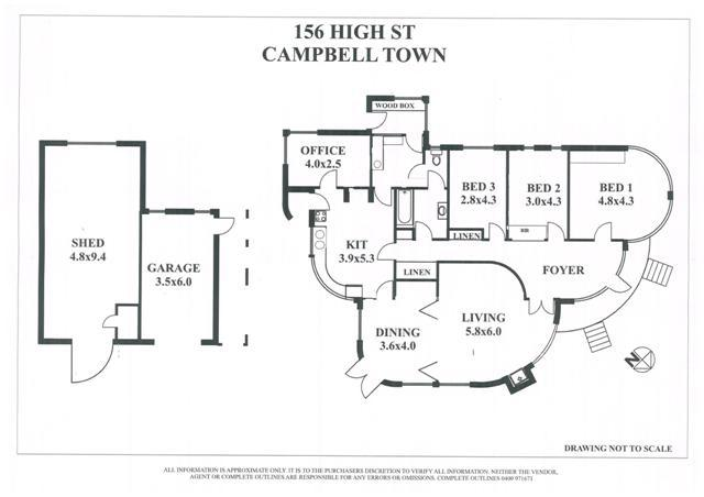 Photograph of floor plan of marjorie 39 s home 39 climar for Tasmanian home designs