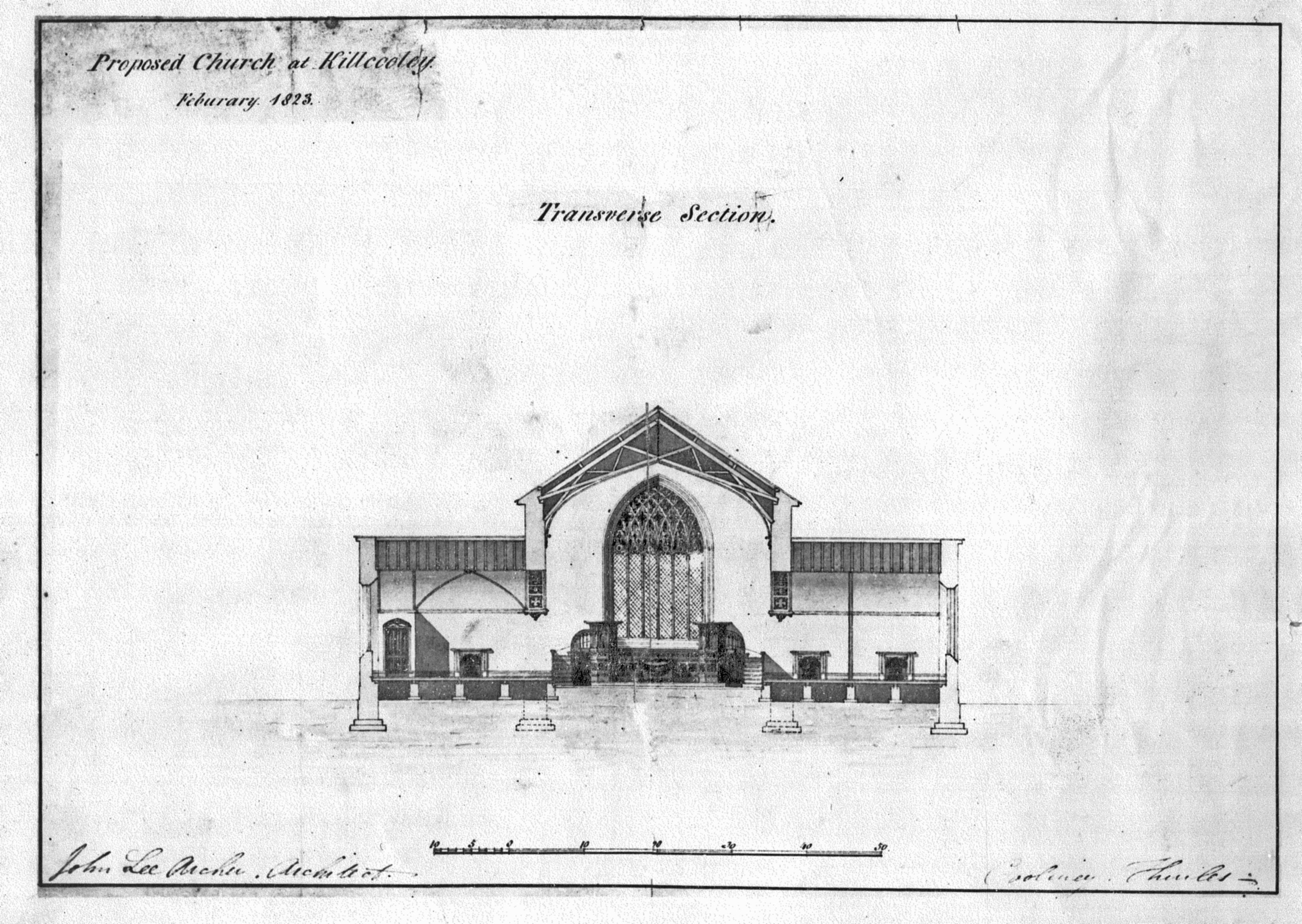 Proposed church at Killcooley