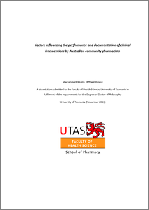 utas thesis binding