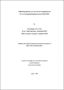 Phd thesis front matter