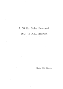 Modulation technique and control of DC/AC inverters with low