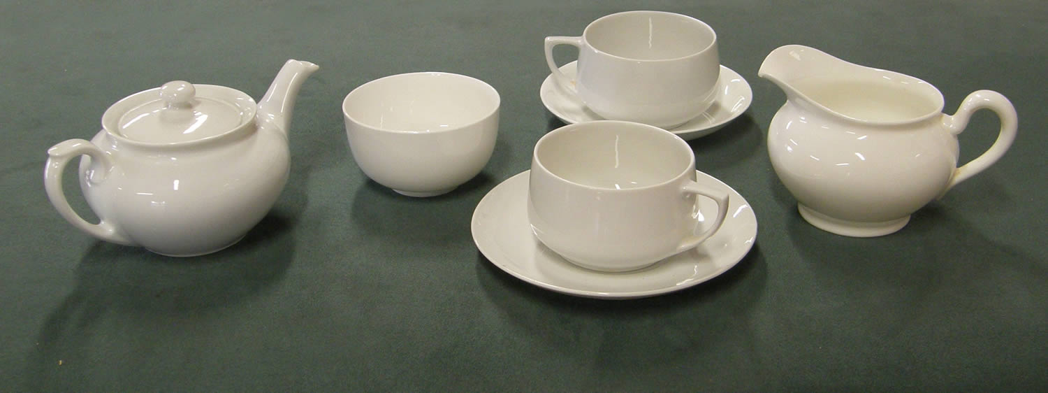 Olive Pink Collection. Olive Pink's white china teaset