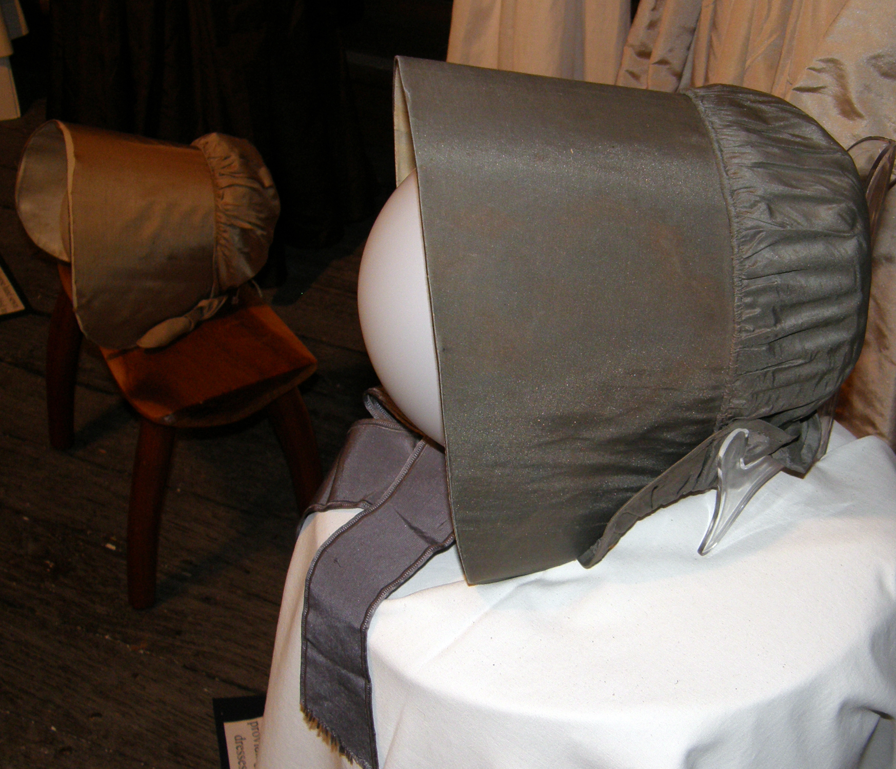 Sarah Benson Walker's Gray Quaker Bonnet