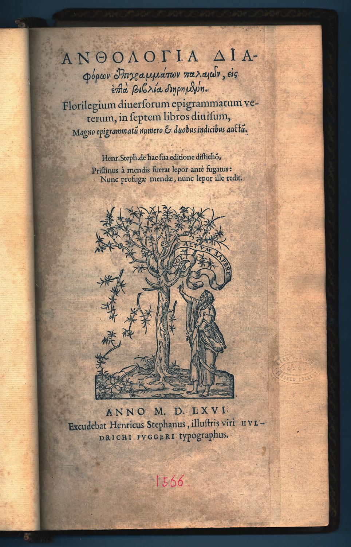Anthologia Graeca Open Access Repository